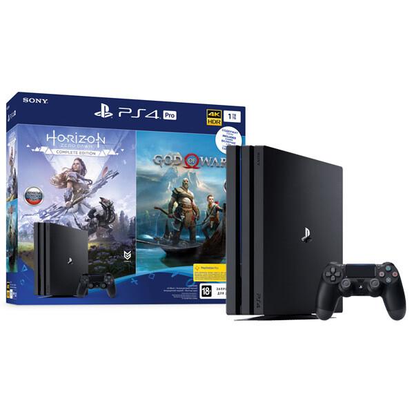 Игровая консоль PlayStation Pro 1TB + (Horizon Zero Dawn CE & God of War) RU/A