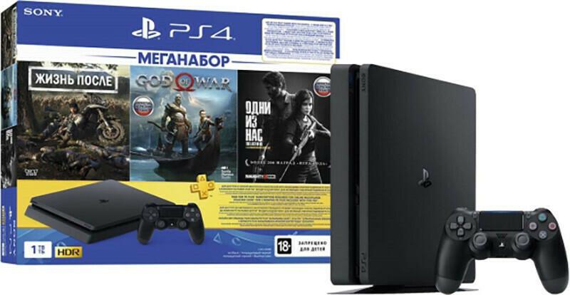 Игровая приставка Sony PlayStation 4 Slim 1Tb (Days Gone+God of War+The last of us) RU/A