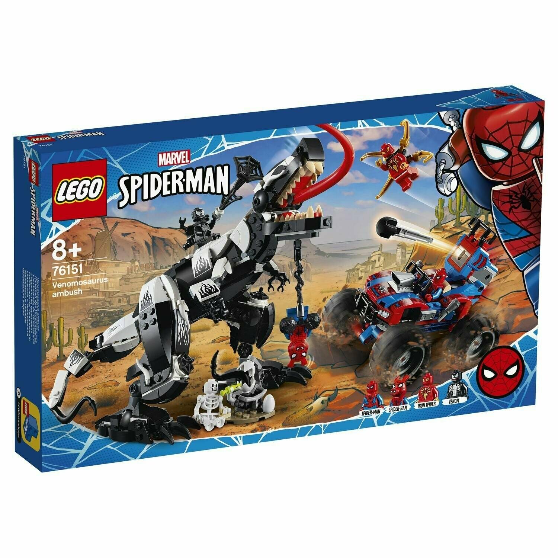 Конструктор LEGO Marvel Super Heroes 76151 Человек-Паук: Засада на веномозавра