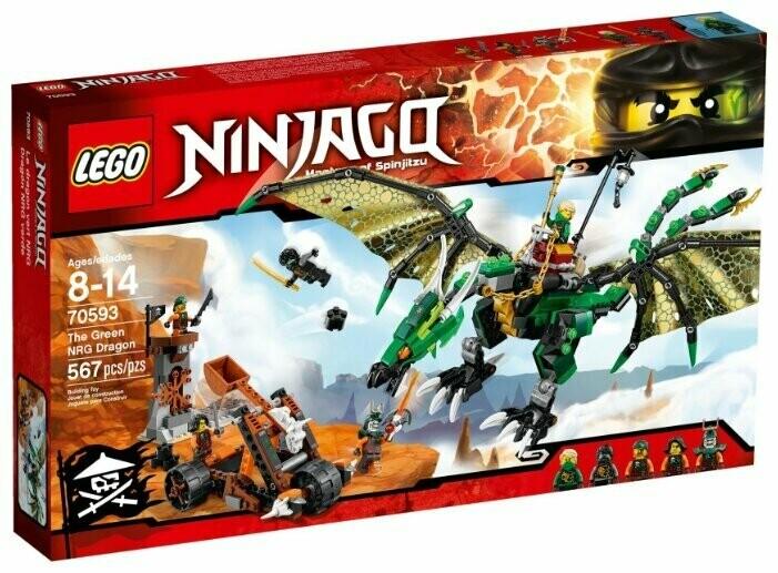 Конструктор LEGO Ninjago 70593 Зеленый дракон