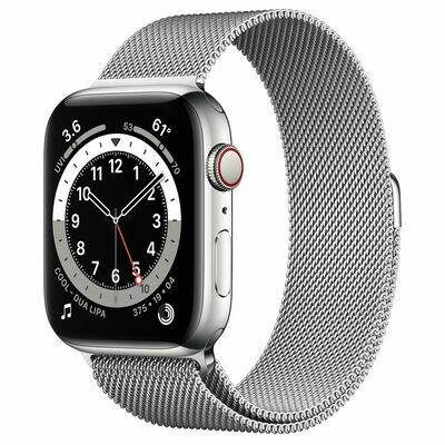 Часы Apple Watch Series 6 GPS + Cellular 44mm Stainless Steel Case with Milanese Loop (Серебристый)