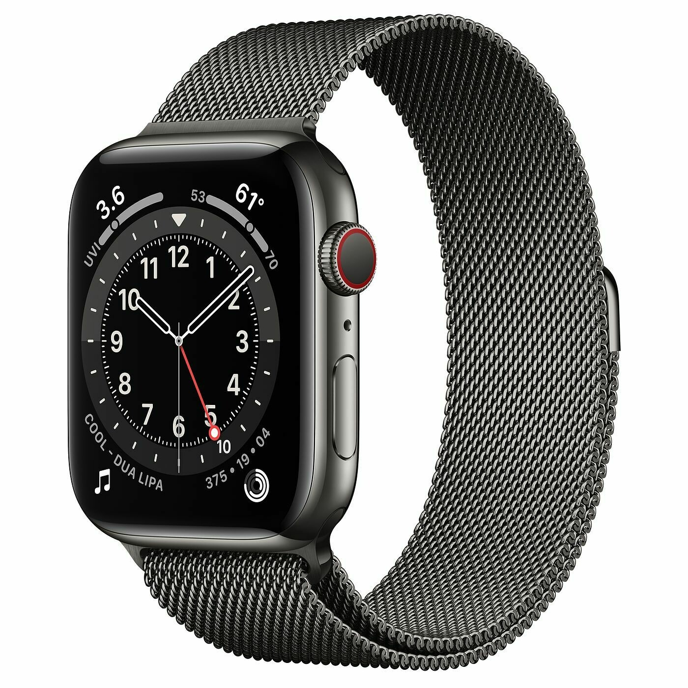 Часы Apple Watch Series 6 GPS + Cellular 44mm Stainless Steel Case with Milanese Loop (Графит)