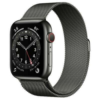 Часы Apple Watch Series 6 GPS + Cellular 44mm Stainless Steel Case with Milanese Loop (Графитовый)