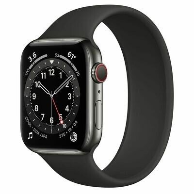 Часы Apple Watch Series 6 GPS + Cellular 44mm Stainless Steel Case with Sport Band (Графитовый)