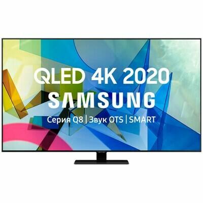 """Телевизор QLED Samsung QE65Q80TAU 65"""" (2020), черненое серебро"""