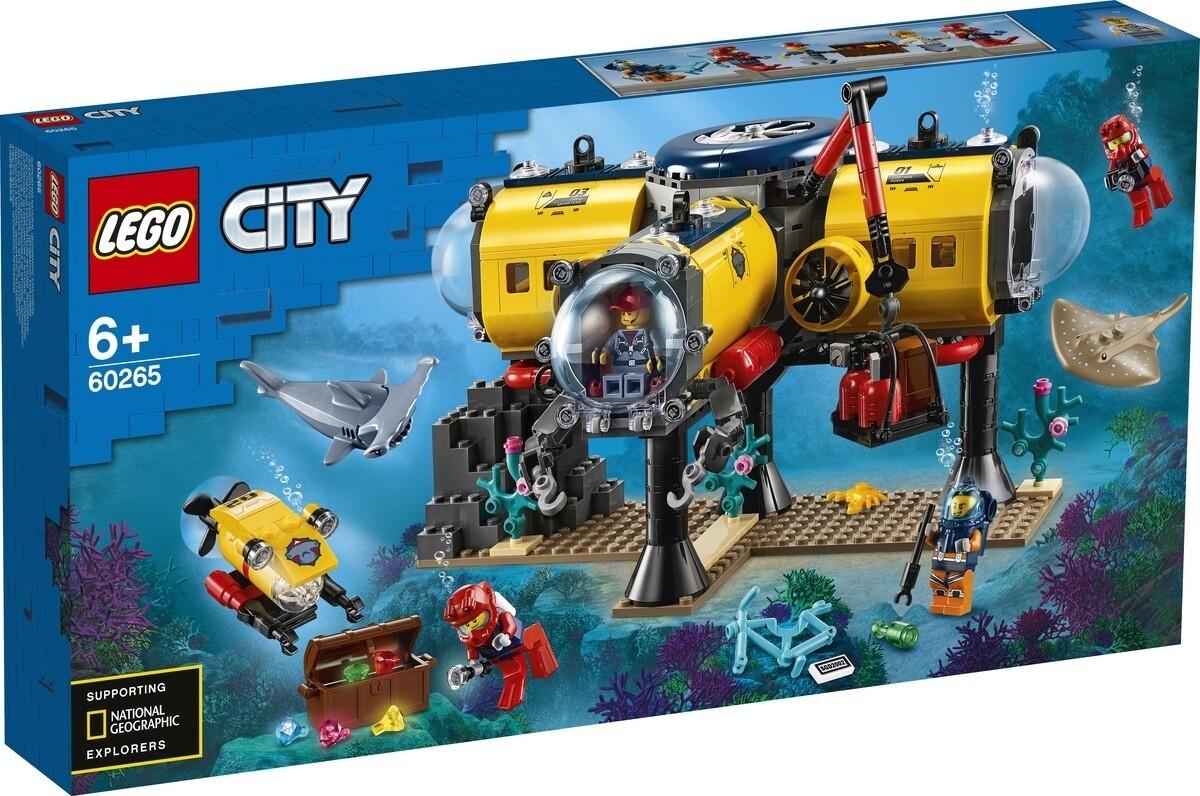 Конструктор LEGO City 60265 Океан: исследовательская база