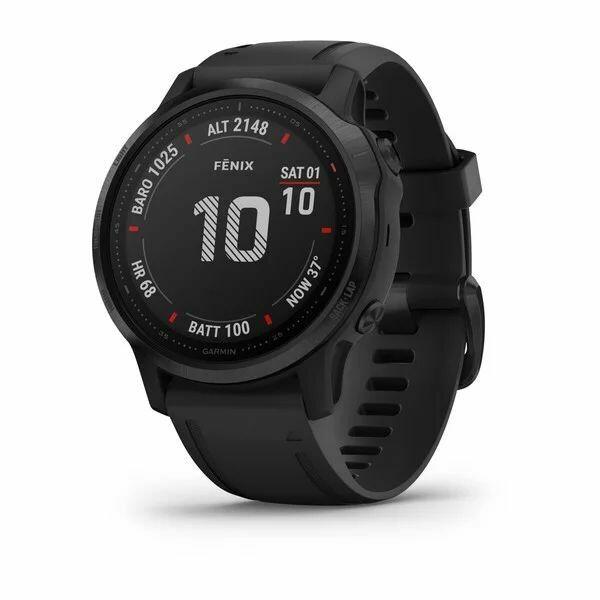 Умные часы Garmin Fenix 6S Pro, черный