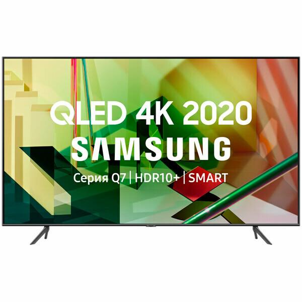 "Телевизор QLED Samsung QE55Q70TAU 55"" (2020) серый титан"