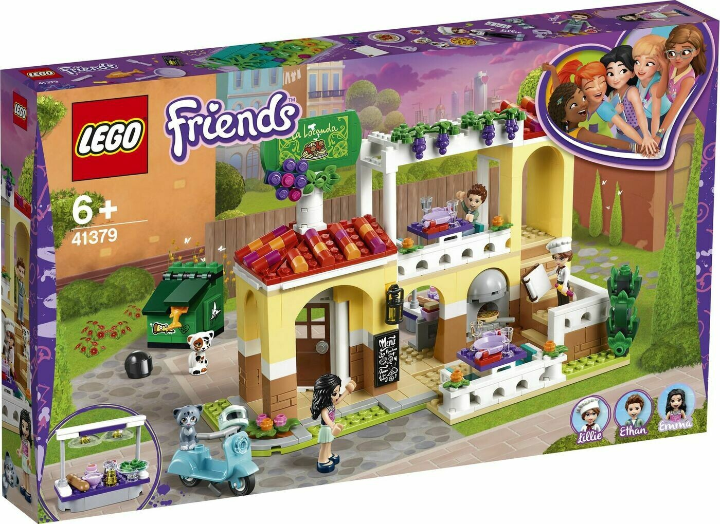 Конструктор LEGO Friends 41379 Ресторан Хартлейк Сити