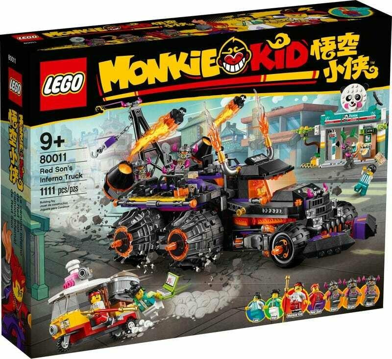 Конструктор LEGO Monkie Kid 80011 Огненный грузовик Ред Сана