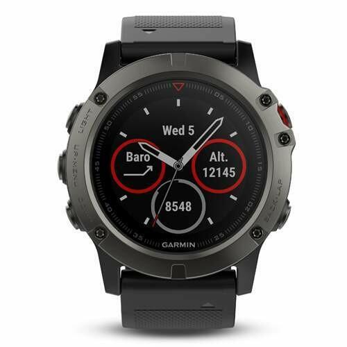 Умные часы Garmin Fenix 5X Sapphire, серый/черный