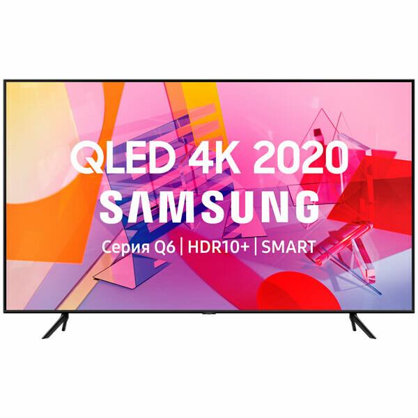 """Телевизор QLED Samsung QE85Q60TAU 85"""" (2020), черный"""