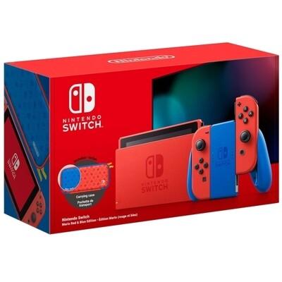 Игровая приставка Nintendo Switch 32 ГБ Особое издание Mario, красный/синий