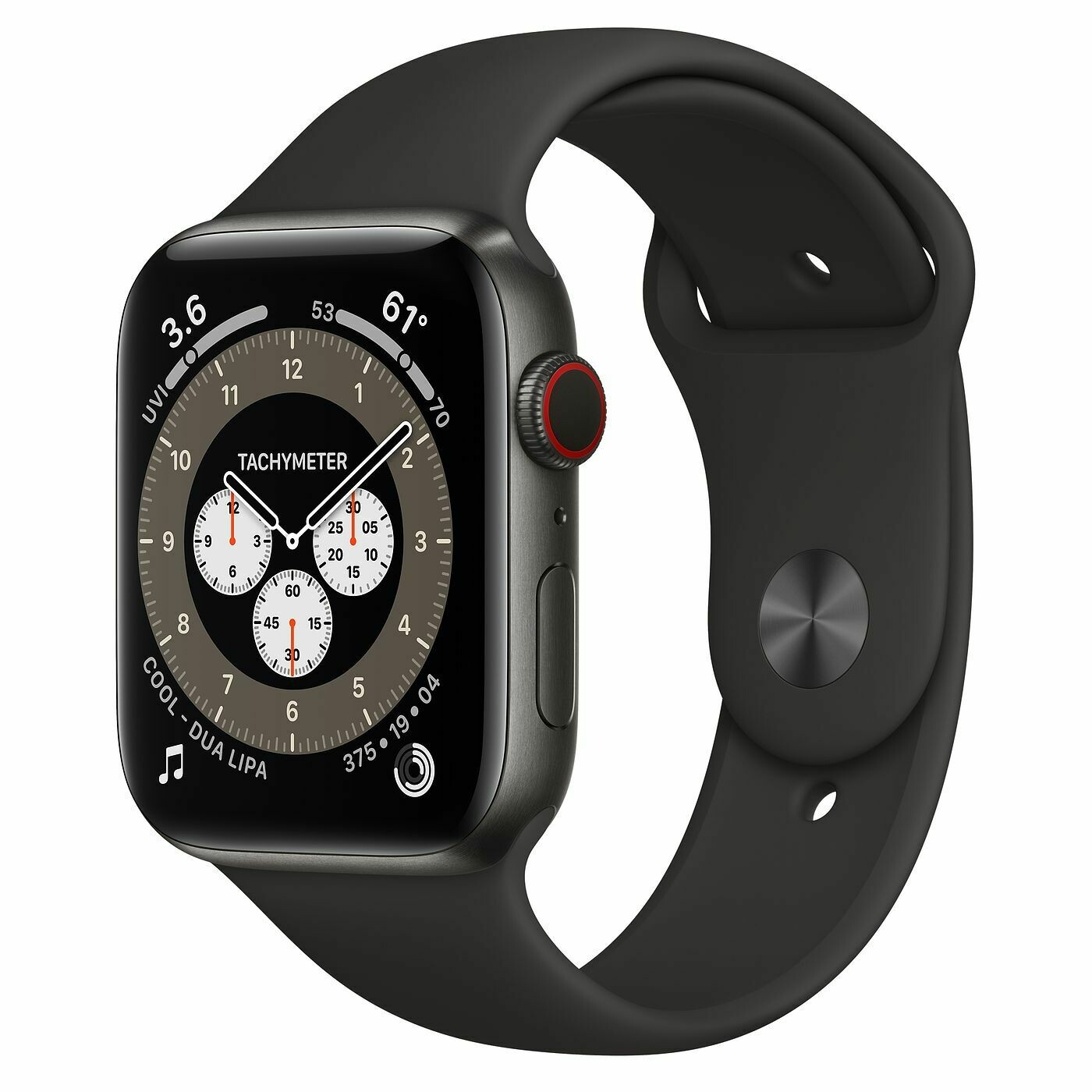 Умные часы Apple Watch Edition Series 6 GPS + Cellular 44mm Space Black Titanium Case with Braided Solo Loop