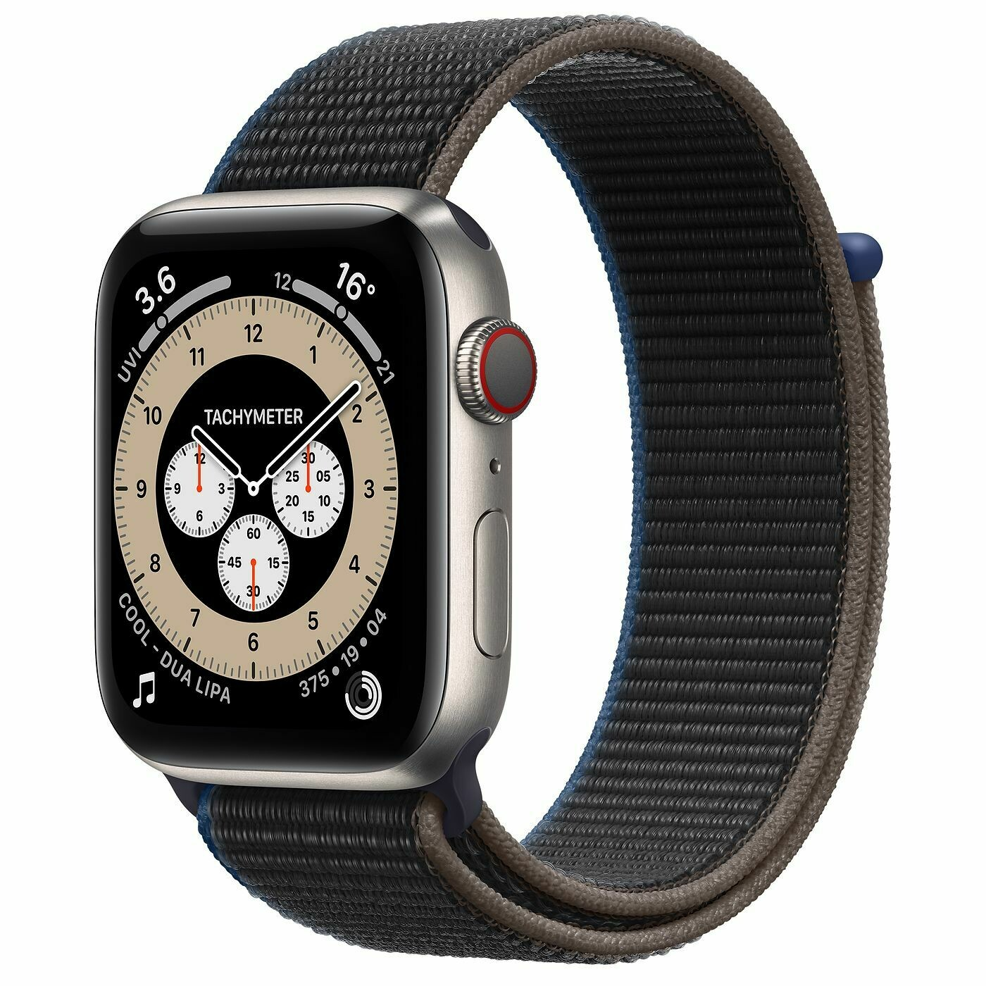 Умные часы Apple Watch Edition Series 6 GPS + Cellular 44mm Titanium Case with Braided Solo Loop