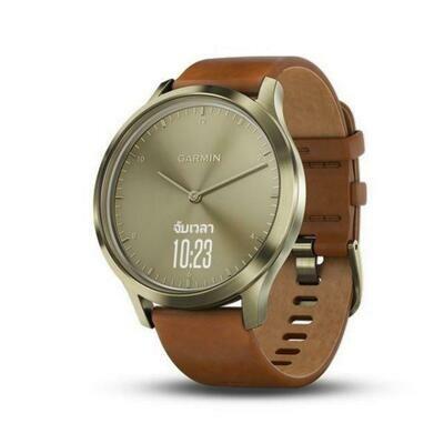 Умные часы Garmin Vivomove HR Premium, золотистый/светло-коричневый