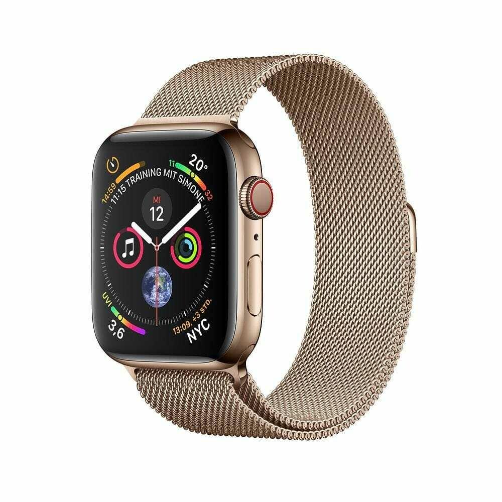 Часы Apple Watch Series 4 GPS + Cellular 40mm Stainless Steel Case with Milanese Loop (Золотистый)