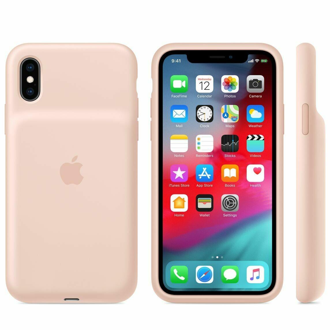 Чехол-аккумулятор Apple Smart Battery Case для Apple iPhone XS розовый песок