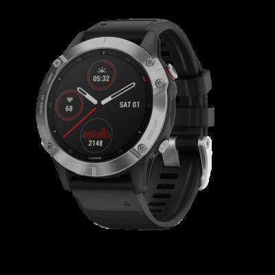 Умные часы Garmin Fenix 6, серебристый/черный