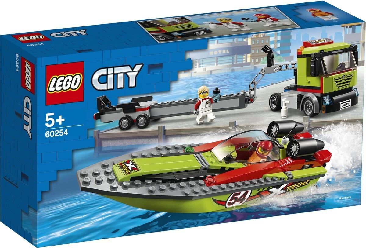 Конструктор LEGO City 60254 Транспортировщик скоростных катеров