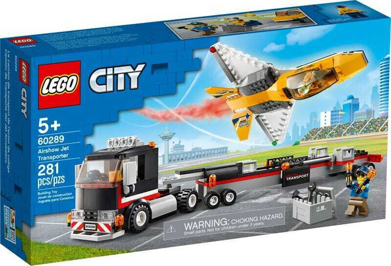 Конструктор LEGO City 60289 Great Vehicles Транспортировка самолёта на авиашоу