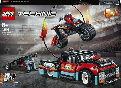 Конструктор LEGO Technic 42106 Шоу трюков на грузовиках и мотоциклах