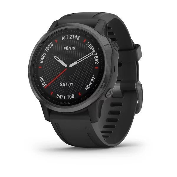 Умные часы Garmin Fenix 6S Sapphire DLC, серый/черный