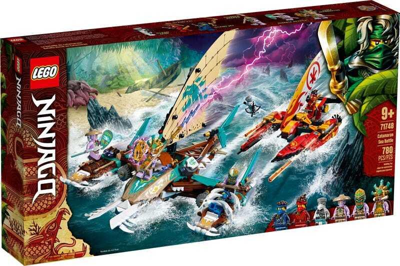 Конструктор LEGO Ninjago 71748 Морская битва на катамаране