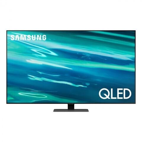 """Телевизор QLED Samsung QE55Q80AAU 55"""", черненое серебро"""