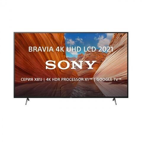 """Телевизор Sony KD-55X81J 54.6"""" (2021), черный"""