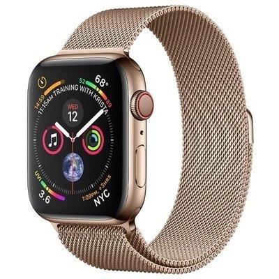 Часы Apple Watch Series 4 GPS + Cellular 40mm Stainless Steel Case with Milanese Loop (Цвет: Золотистый/Золотой)