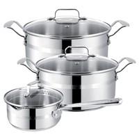 Набор посуды Tefal Jamie Oliver E874S574 6 пр. серебристый