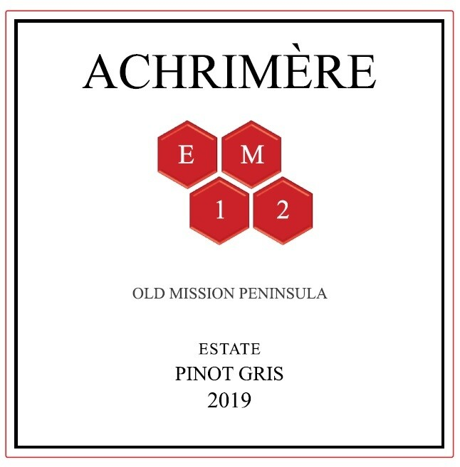 Achrimère EM12 Pinot Gris 2019 -------------- (case of 12 bottles) PRE-ORDER