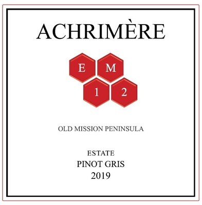 Achrimère EM12 Pinot Gris 2019 -------------- (case of 12 bottles)