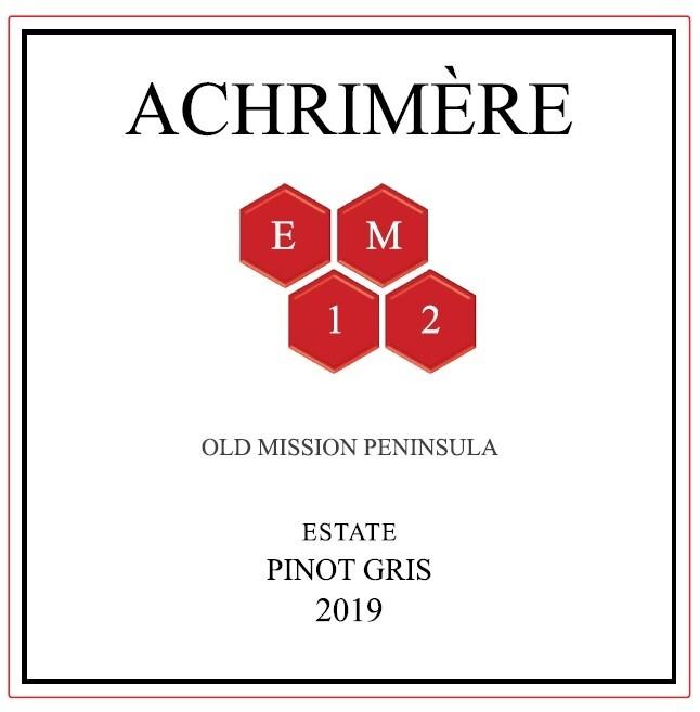 Achrimère EM12 Pinot Gris 2019 (6 bottles)