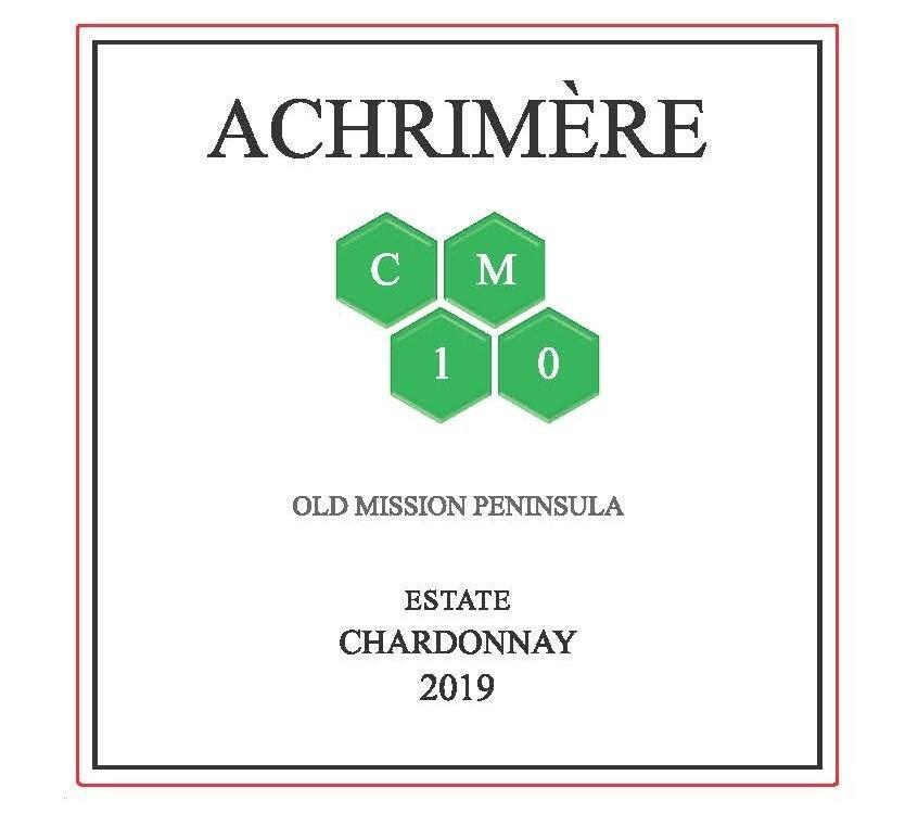 Achrimère CM10 Chardonnay 2019---------  (case of 12 bottles)