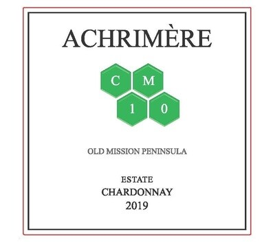 Achrimère CM10 Chardonnay 2019---------  (case of 12 bottles)