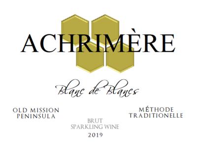 Achrimère ' ' Blanc de Blancs 2019 (6 bottles) PRE-ORDER