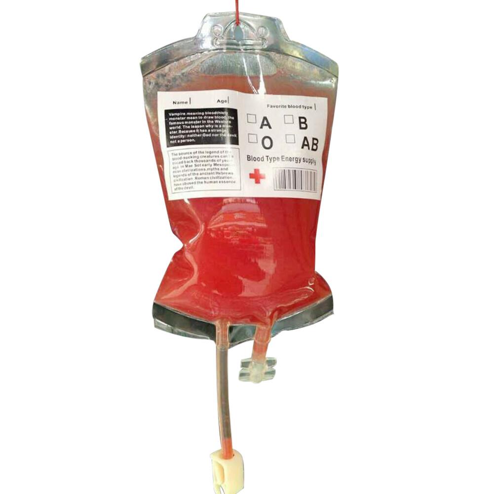10oz Blood Bag for Beverage - Halloween Party Favors