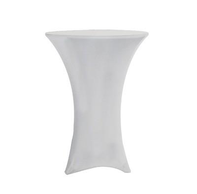 Nappe En Lycra Blanc Table Cocktail / White Spandex Cocktail Tablecloth