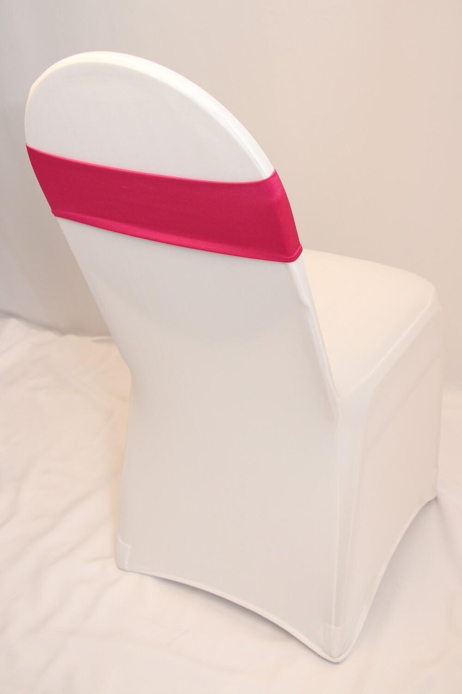 Bandeau Lycra Rose Fuschia / Fuschia Pink Spandex Chair Band