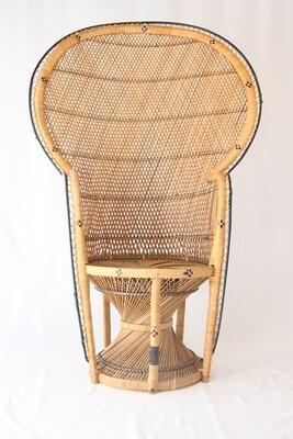Chaise En Osier Style Emmanuelle / Emmanuelle Style Wicker Chair