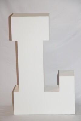 Lettre L Géante Blanche 30