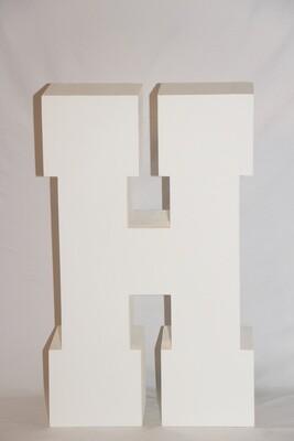 Lettre H Géante Blanche - 30