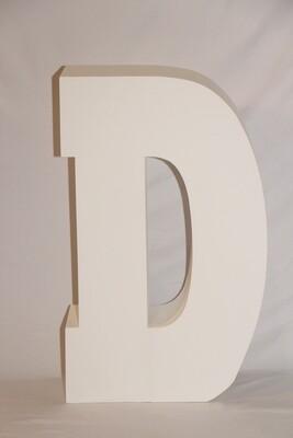 Lettre D Géante Blanche 30
