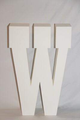 Lettre W Géante Blanche 30