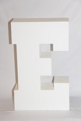 Lettre E Géante Blanche 30