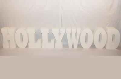 Lettre Hollywood Géante Blanche - 30