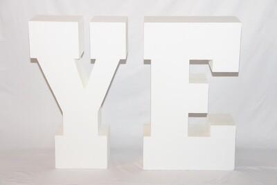 Lettre YE Géante Blanche - 30