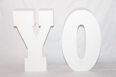 Lettre YO Géante Blanche - 30